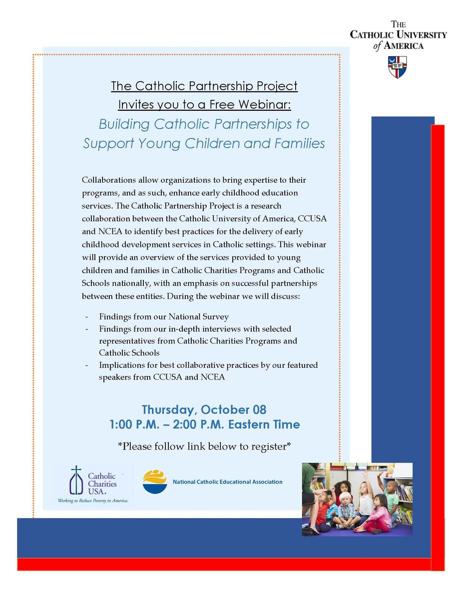 """Building Catholic Partnerships to Support Young Children and Families"" – Webinar"