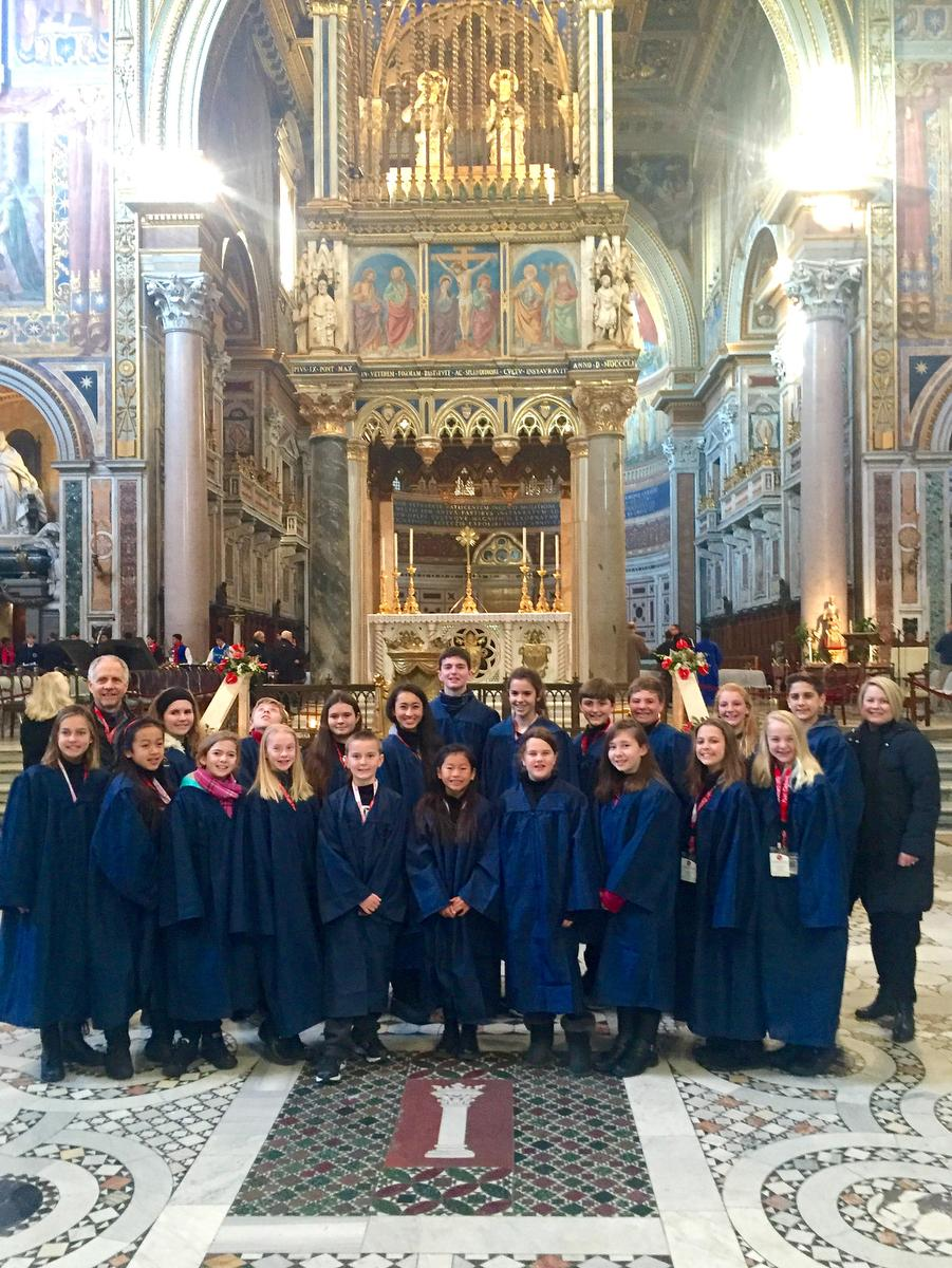 O.C. choral students sing for the pope on Christmas Eve
